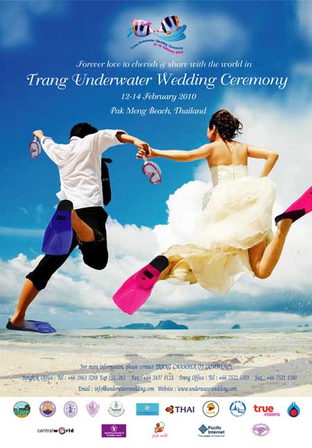 Trang underwater wedding